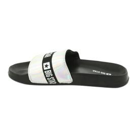 Pantofole da donna HOLO Big Star 274A005 nero grigio 1