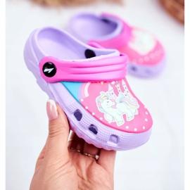 Pantofole per bambini Foam Crocs Pony viola porpora 2
