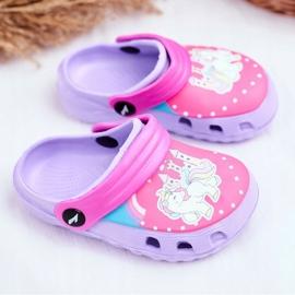 Pantofole per bambini Foam Crocs Pony viola porpora 1