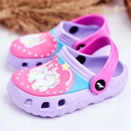 Pantofole per bambini Foam Crocs Pony viola porpora 3