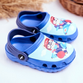 Pantofole per bambini Foam Crocs Blue Teddy Bear Pilot SuperFly 2
