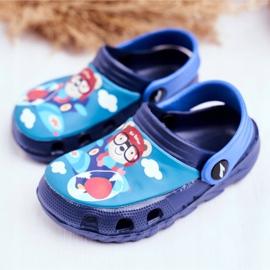 Pantofole per bambini Schiuma Crocs Navy Blue Teddy Bear Pilot SuperFly 3