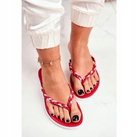 SEA Ciabatte infradito da donna con pantofole rosse Peggie rosso 3