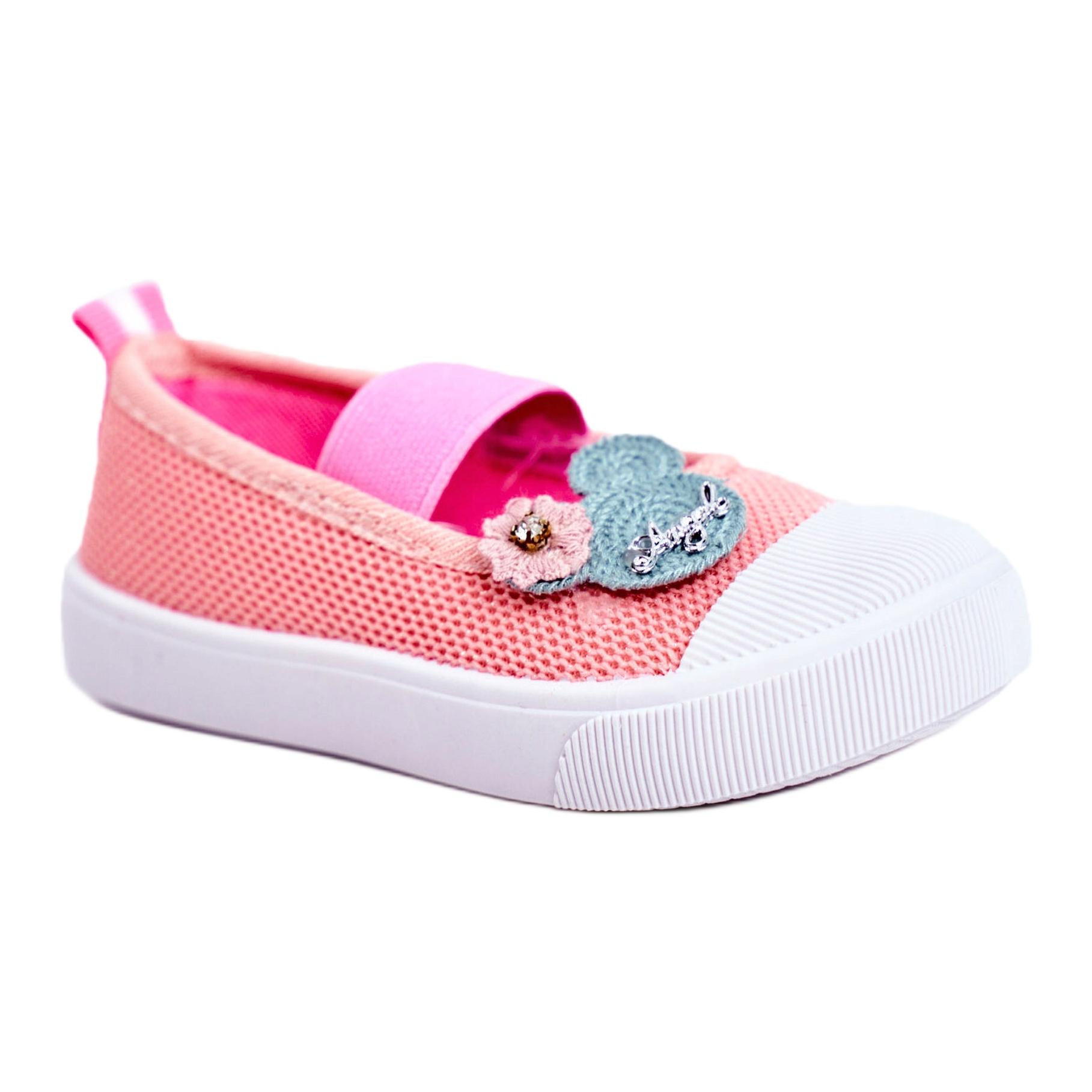 miniatura 4 - Le Scarpe Sneakers per bambini Estienne con chiusura strappo multicolore rosa