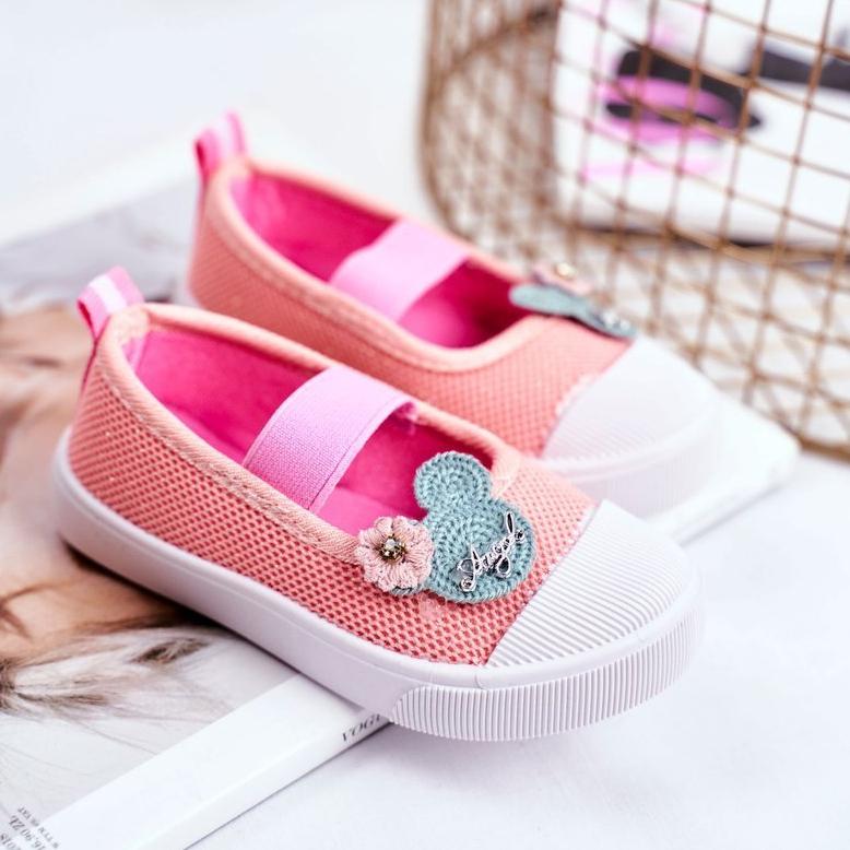 miniatura 2 - Le Scarpe Sneakers per bambini Estienne con chiusura strappo multicolore rosa