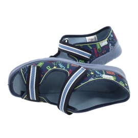 Scarpe per bambini Befado 969Y161 blu navy multicolore 5