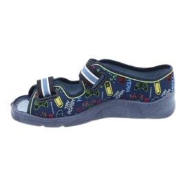Scarpe per bambini Befado 969Y161 blu navy multicolore 2