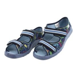 Scarpe per bambini Befado 969Y161 blu navy multicolore 3