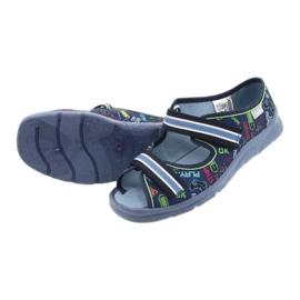 Scarpe per bambini Befado 969Y161 blu navy multicolore 4
