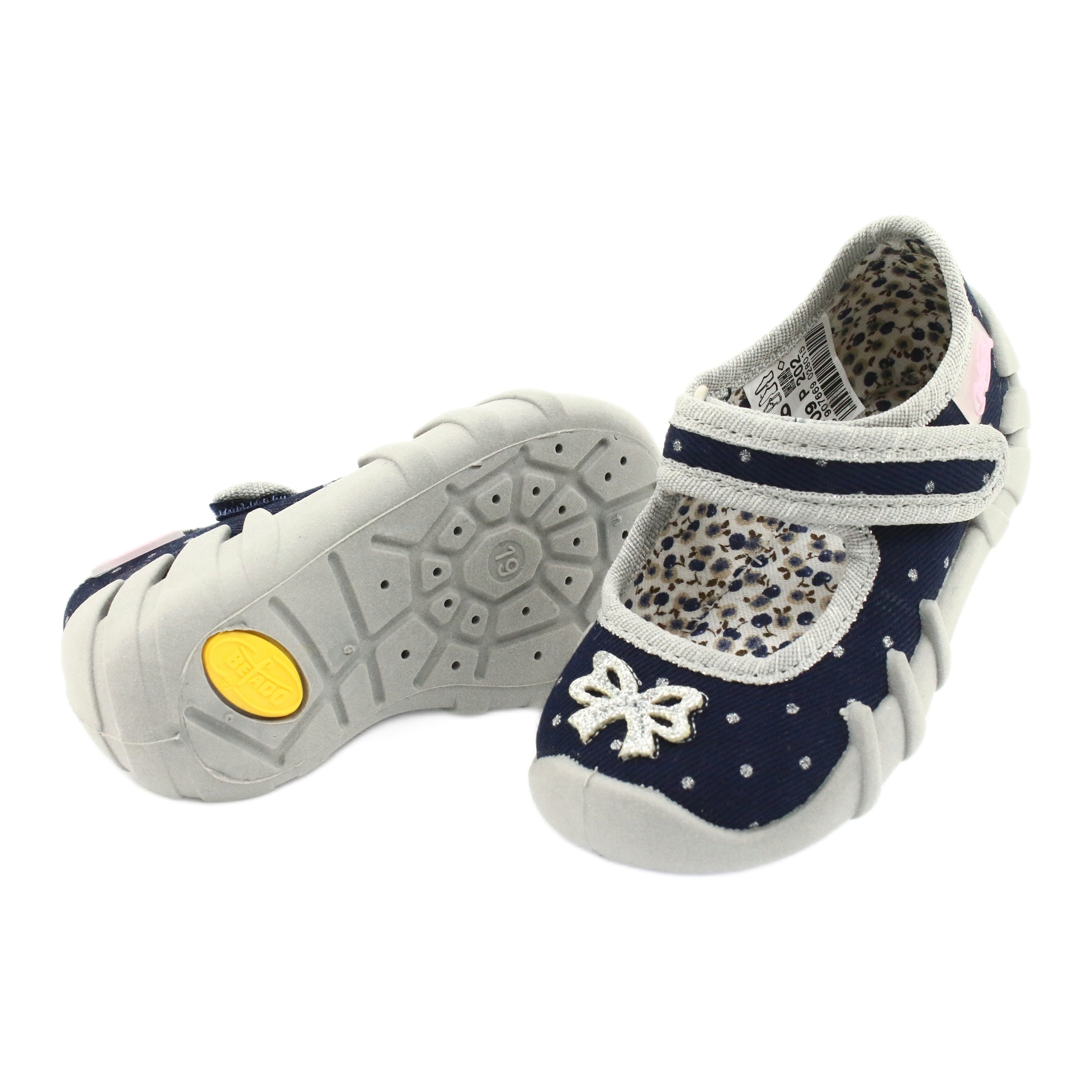 miniatura 4 - Scarpe per bambini Befado 109P202 marina argento grigio