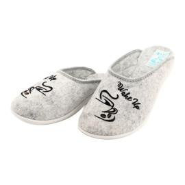 Pantofole in feltro Wake Up Adanex 25642 Grigio nero 3