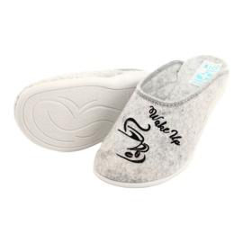 Pantofole in feltro Wake Up Adanex 25642 Grigio nero 4