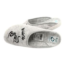 Pantofole in feltro Wake Up Adanex 25642 Grigio nero 5