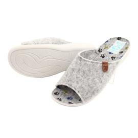 Pantofole in feltro Adanex 25494 grigio 3