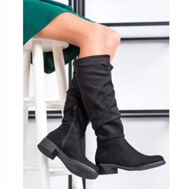 Sweet Shoes Stivali di camoscio nero 1