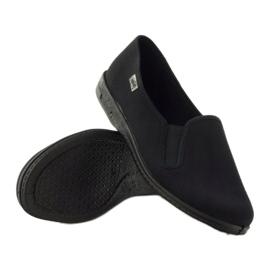 Pantofole slip-on nere Befado 001M060 nero 3
