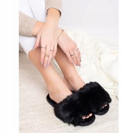 Bona Eleganti pantofole nere nero 3