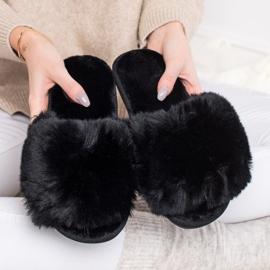 Bona Eleganti pantofole nere nero 4