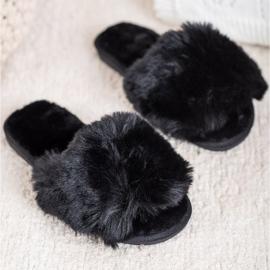 Bona Eleganti pantofole nere nero 1