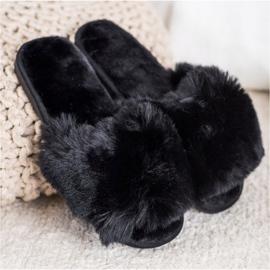 Bona Eleganti pantofole nere nero 2