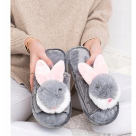 Bona Pantofole da coniglio grigio 4