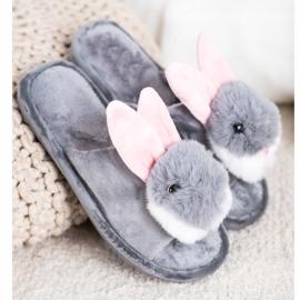 Bona Pantofole da coniglio grigio 1