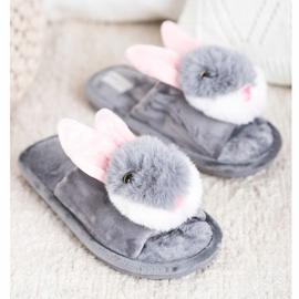 Bona Pantofole da coniglio grigio 3