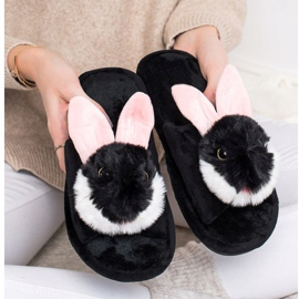 Bona Pantofole da coniglio nero 4