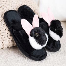 Bona Pantofole da coniglio nero 1