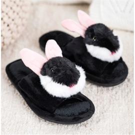 Bona Pantofole da coniglio nero 2