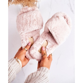 FRJ Pantofole di pelliccia da donna Beige Cold Days 2