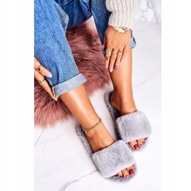 FRJ Pantofole di pelliccia da donna Grigio Cold Days 2
