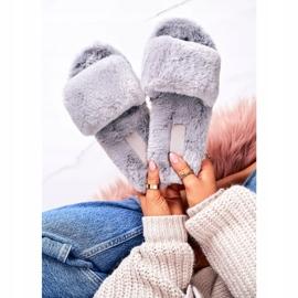 FRJ Pantofole di pelliccia da donna Grigio Cold Days 3