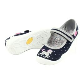 Scarpe per bambini Befado 114X414 marina grigio 4