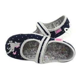 Scarpe per bambini Befado 114X414 marina grigio 5