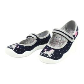 Scarpe per bambini Befado 114X414 marina grigio 3