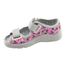 Scarpe per bambini Befado 969X162 rosa argento 2