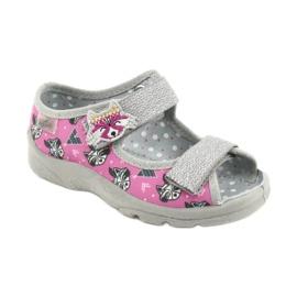 Scarpe per bambini Befado 969X162 rosa argento 1
