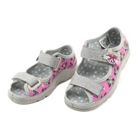 Scarpe per bambini Befado 969X162 rosa argento 3