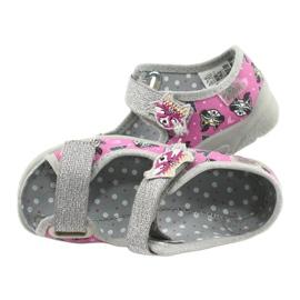 Scarpe per bambini Befado 969X162 rosa argento 5
