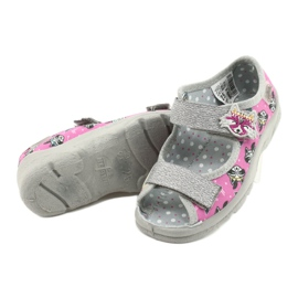 Scarpe per bambini Befado 969X162 rosa argento 4
