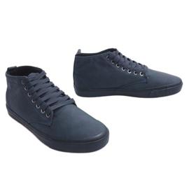 Sneakers alte alla moda Y007 blu navy marina 3