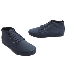 Sneakers alte alla moda Y007 blu navy marina 4