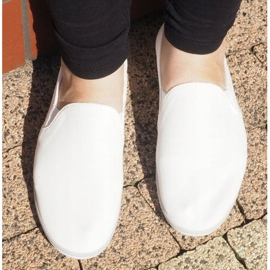 Sneakers Slip-On in Lycra BL181-2 bianche bianco 1