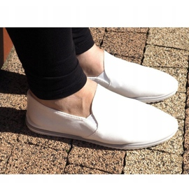 Sneakers Slip-On in Lycra BL181-2 bianche bianco 2