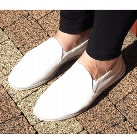 Sneakers Slip-On in Lycra BL181-2 bianche bianco 3