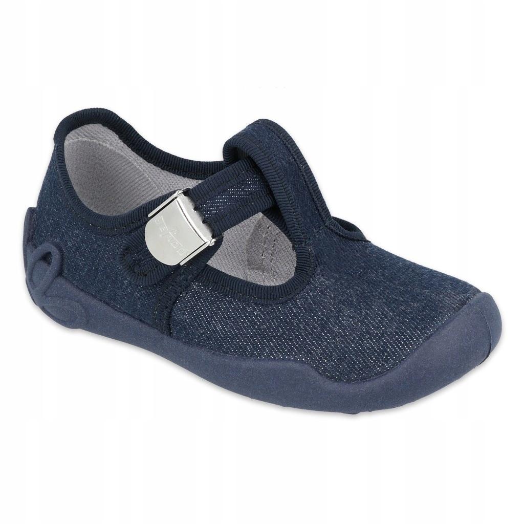 miniatura 2 - Scarpe per bambini Befado in bianco blu navy