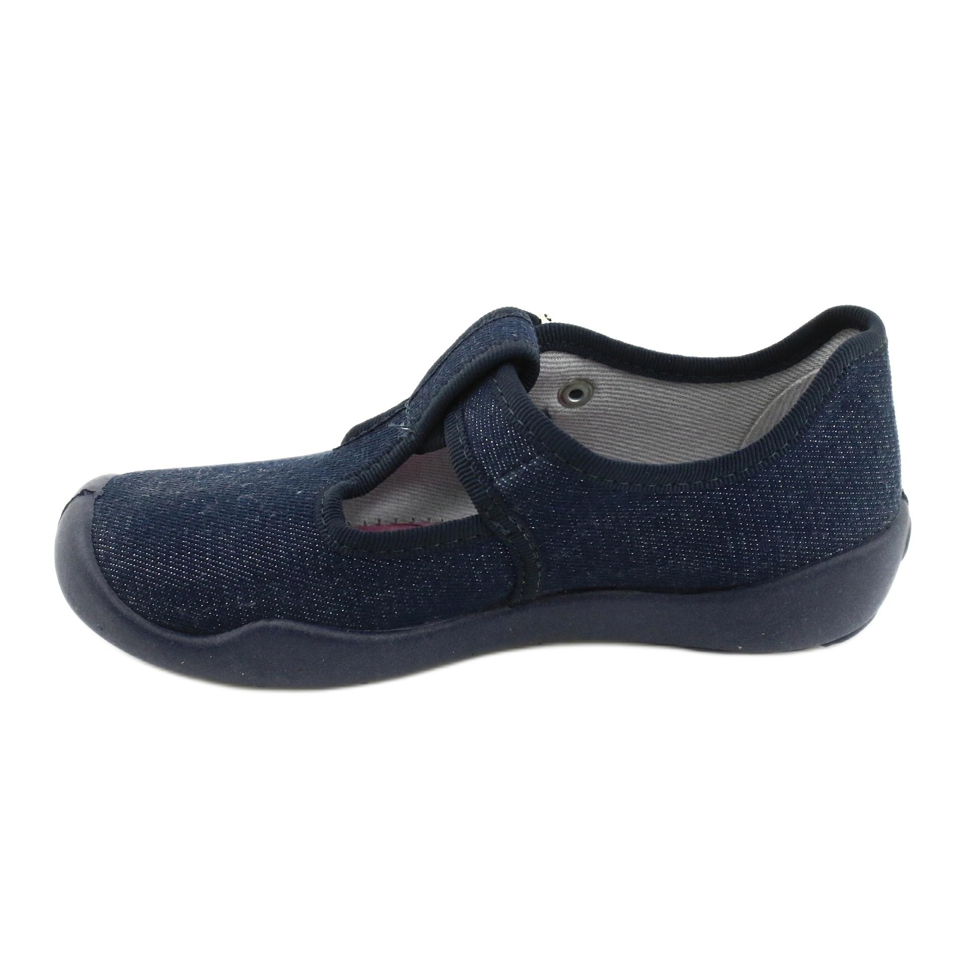 miniatura 4 - Scarpe per bambini Befado in bianco blu navy