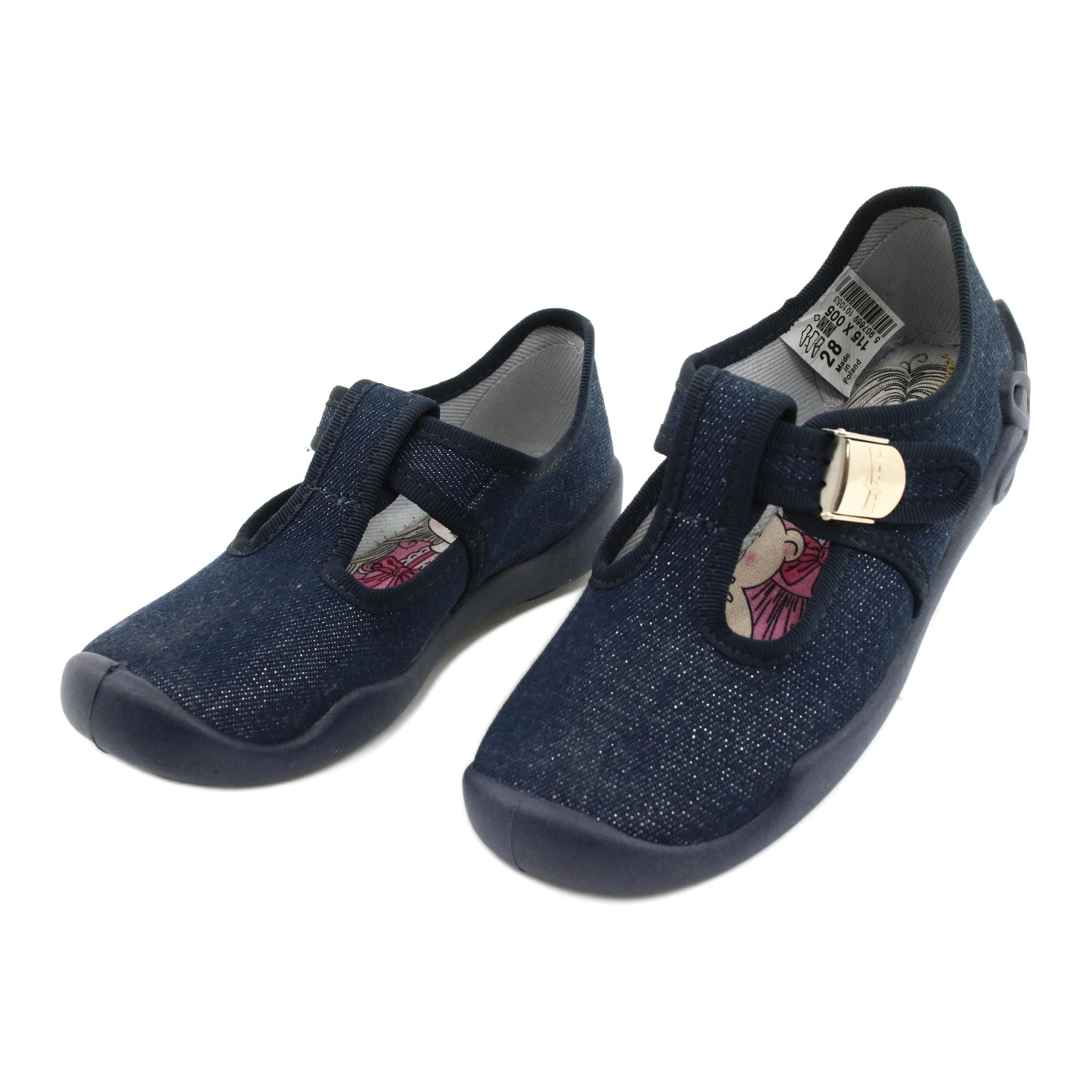 miniatura 5 - Scarpe per bambini Befado in bianco blu navy