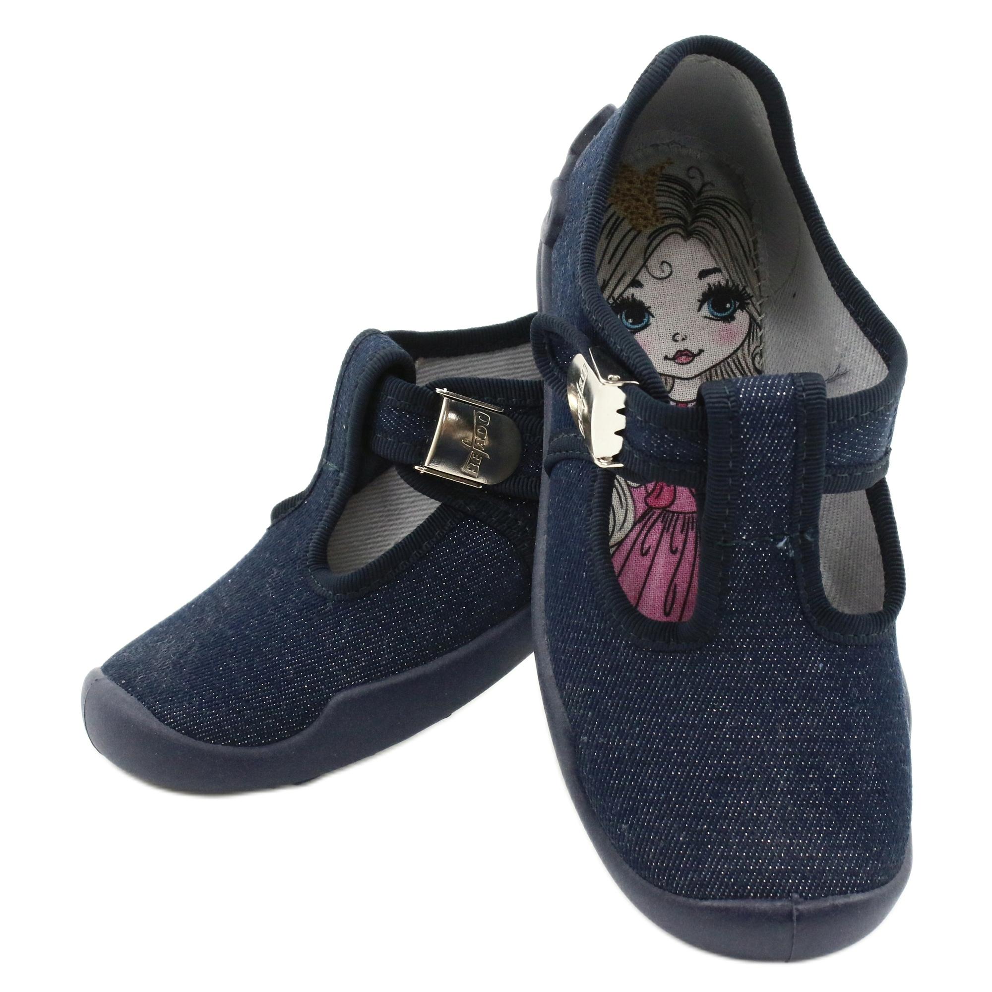 miniatura 7 - Scarpe per bambini Befado in bianco blu navy